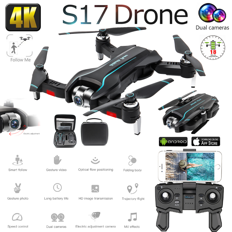 S17 Drone 4K camera HD 4K WIFI FPV Drone Height Maintenance RC Quadcopter Fxed-point Surround Helicopter Drone Camera 1080P Dron image