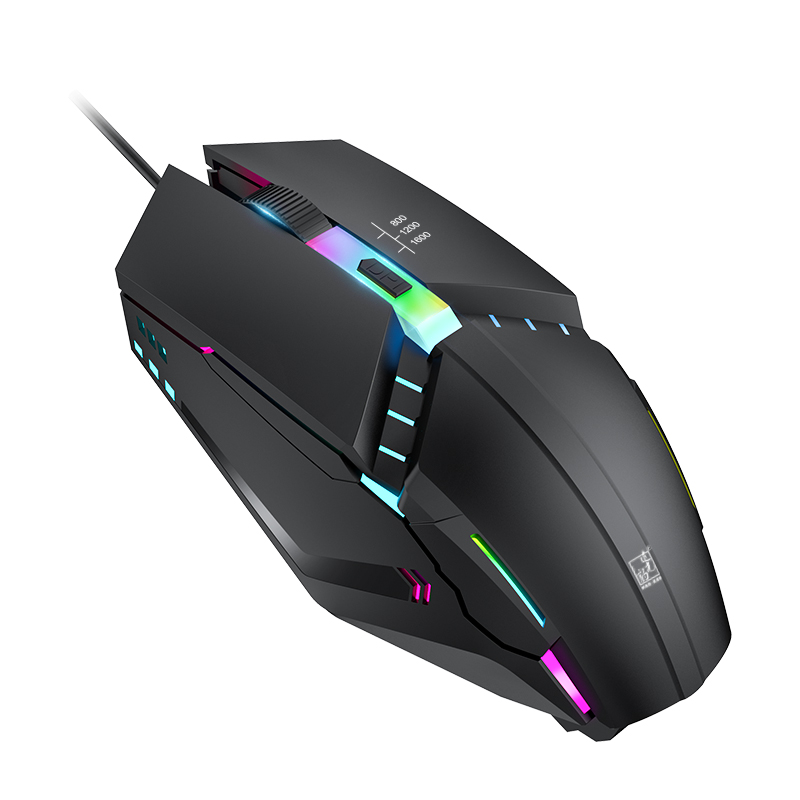 Wired Computer Mouse 1600DPI Wired USB Mice RGB Illuminated LED Mouses Ergonomic Mouse For Windows Xiaomi Huawei PC Laptop