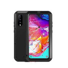 Waterproof Case 360 Full Body Protective For Samsung Galaxy A70 Shockproof Aluminum Metal Back Cover Cases KS0312