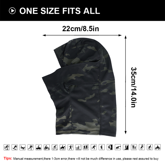 Multicam Camouflage Balaclava Full Face Scarf Mask Hiking Cycling Hunting Army Bike Military Head Cover Tactical Airsoft Cap Men 6