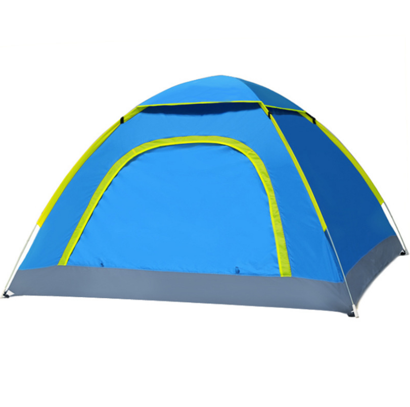 Backpacking Camping Tent, Lightweight 3-4 Persons Tent Waterproof Sun-proof Portable Aluminum Poles Travel Tents[blue Color]