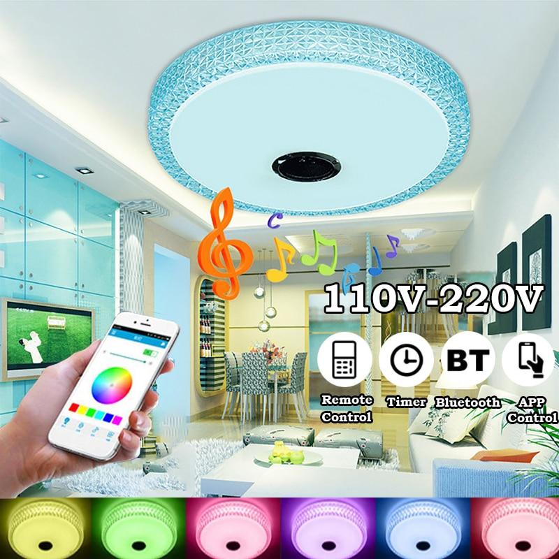 Умный светодиодный музыкальный потолочный светильник цветная