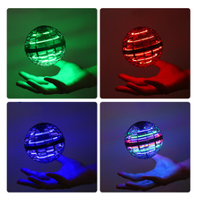 DIY Magic Ball Spinning Flying Ball Decompression Aircraft Fingertip Toy Flying Top Novelty LED Light Toy