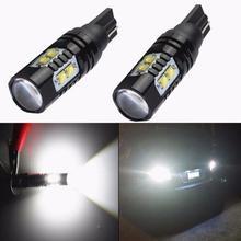 OLOMM New 2PCS 50W LED Bulbs 921 912 T10 T15 LED Backup Light 6000K HID LED Bulbs 12V-24V 700LM Car Reverse Lamp White sencart baz15d 7 5w 380lm 5 led white light car backup lamp dc 12 24v 2 pcs
