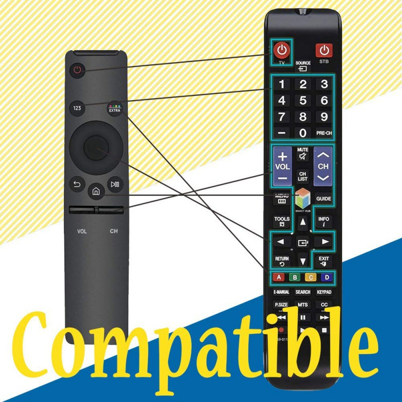 Universal Remote Control 4K High Definition Television Replacement Controller For Samsung Smart Televisions Accessories New