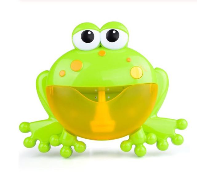 frog bubble machine bath toy