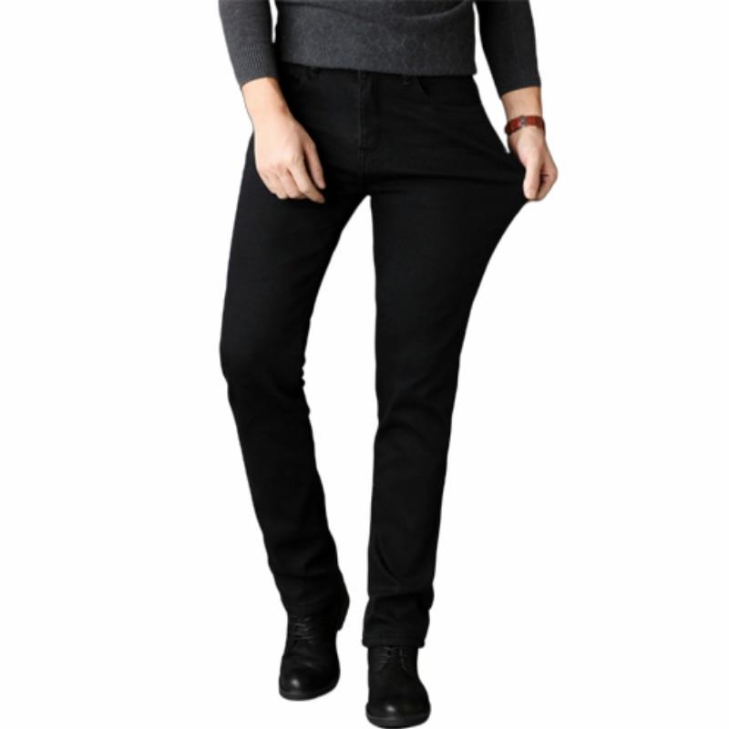 Fashion Black Jeans Men Jeans High Elasticity Trousers Men Clothes Skinny Business Casual Classic Male Denim Slim Pants Regular
