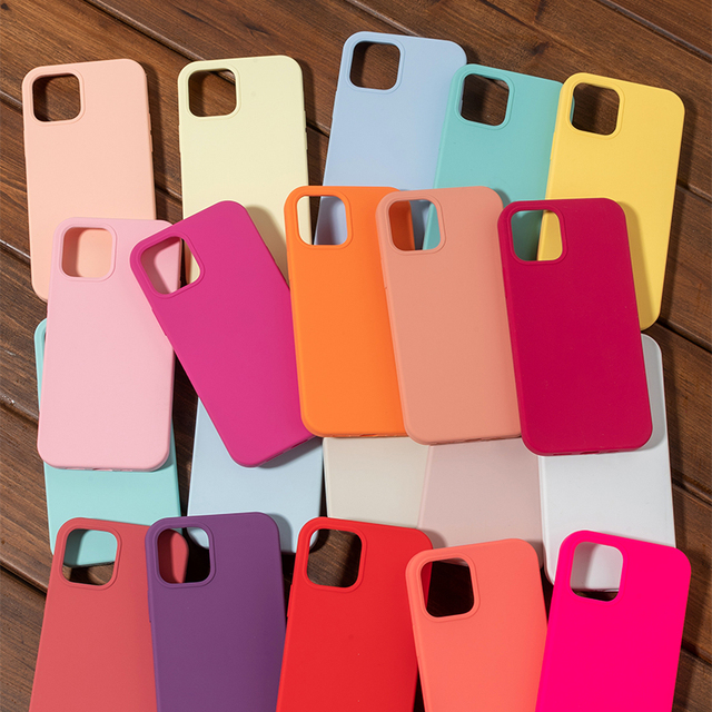 Luxury Original Official Silicone Case For iPhone SE 2020 12 Mini X XR XS Case For Apple iPhone 11 Pro Max 7 8 Plus 12 Pro Case 1