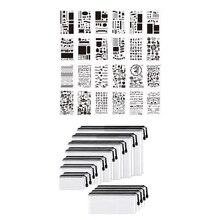36 Pcs DIY Drawing Template Painting Template & 18 Pcs Mesh Zipper Pouch Document Bag