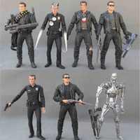 NECA The Terminator 2 Action Figure Arnold Schwarzenegger Toy Model Toy T-800 / T-1000 PVC Figure Toy Model Toy 7 Types 18cm