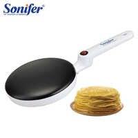 Fabricante de crepe elétrico pizza pancake máquina não-vara griddle cozimento pan bolo máquina cozinha cozinhar ferramentas sonifer