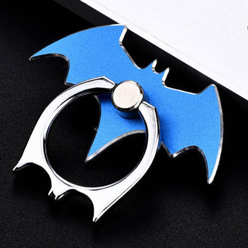 Luxury Batman Aluminum Metal Universal Finger Ring Smartphone Mobile Cell Phone Hand Desk Stand For  IPhone  Xiaomi Holder