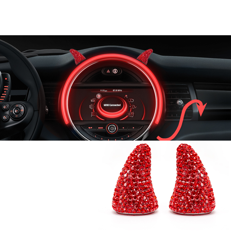Car Creative Ornament Auto Interior styling Sticker For MINI COOPER F54 F55 F56 F60 R55 R60 R61 Car accessories interior 2pcs