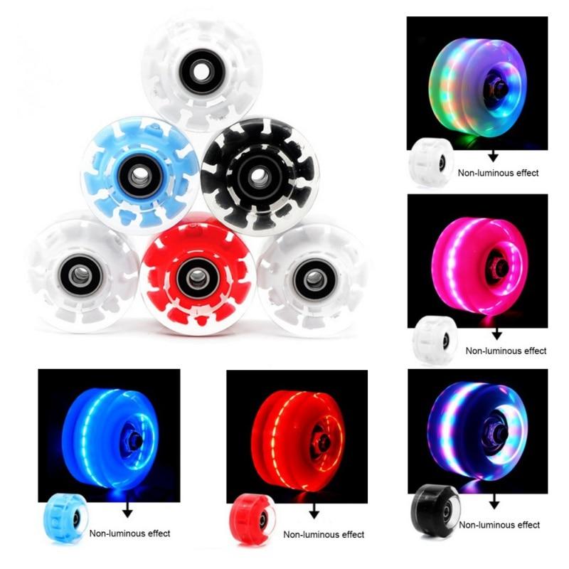 4Pcs Glow Skate Flash Wheel Micro Scooter Flashing Roller Back Rear Skateboard Scooter Ball Roller Wheel