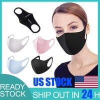 Nano polyurethan Schwarz Mund Maske Anti Staub Maske Aktivkohle Winddicht Mund muffel Bakterien Beweis Grippe Gesicht Masken-in Schuhüberzug aus Heim und Garten bei