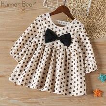 Humor bear/Одежда для маленьких девочек платье в горошек с бантом;