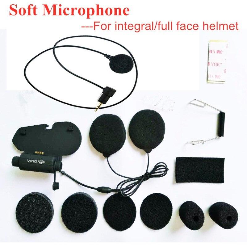 Original Vimoto V3 V6 Microphone Kit Accessories Helmets Bluetooth Headset Base Soft Earphone Earpiece Mic for Full Face Helmet