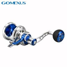Gomexus Slow Jigging Saltwater Reel Narrow Spool 6.3:1 Lever Drag 22kg Left and Right Hand Reel EX300