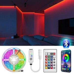 Bluetooth LED Strip Light SMD 5050 RGB led ribbon Flexible LED Light 5M 10M Tape Diode DC 12V Power + Remote Controller