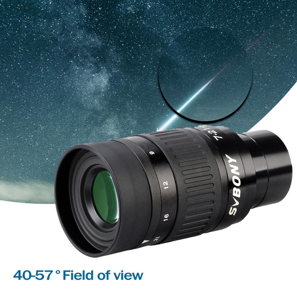 Tools : SVBONY SV135 1 25    7-21mm zoom telescope eyepieceZoom eyepiece mul-Coated 6-Elem 4-Group OpticalContinuous zooming eyepiece