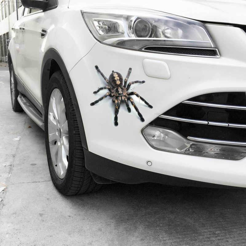3D araba Sticker hayvanlar tampon örümcek Gecko akrepler araba-styling Abarth vinil çıkartma araba oto motosiklet aksesuarları