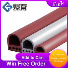 6M/lot D/I Type Silicone Rubber Sealing Strip For Door / Window Sound Insulating Strip Self-adhesive Tape Window Insulation Seal