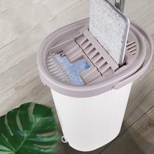 Fregona exprimible con cubo para lavar el suelo ayuda Magic Lightning ofrece herramientas de limpieza de suelos Manos libres cabezal de trapeadores de microfibra