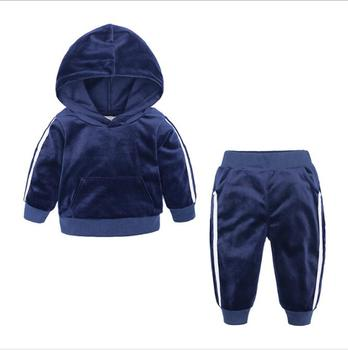 Set of 2 Pieces Cotton Winter Thick Clothing Outfit