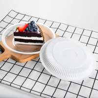Cake Dish Disposable PP Plastic round Plates Snacks Food Fruit Small Tray Barbecue Birthday Party of Dish