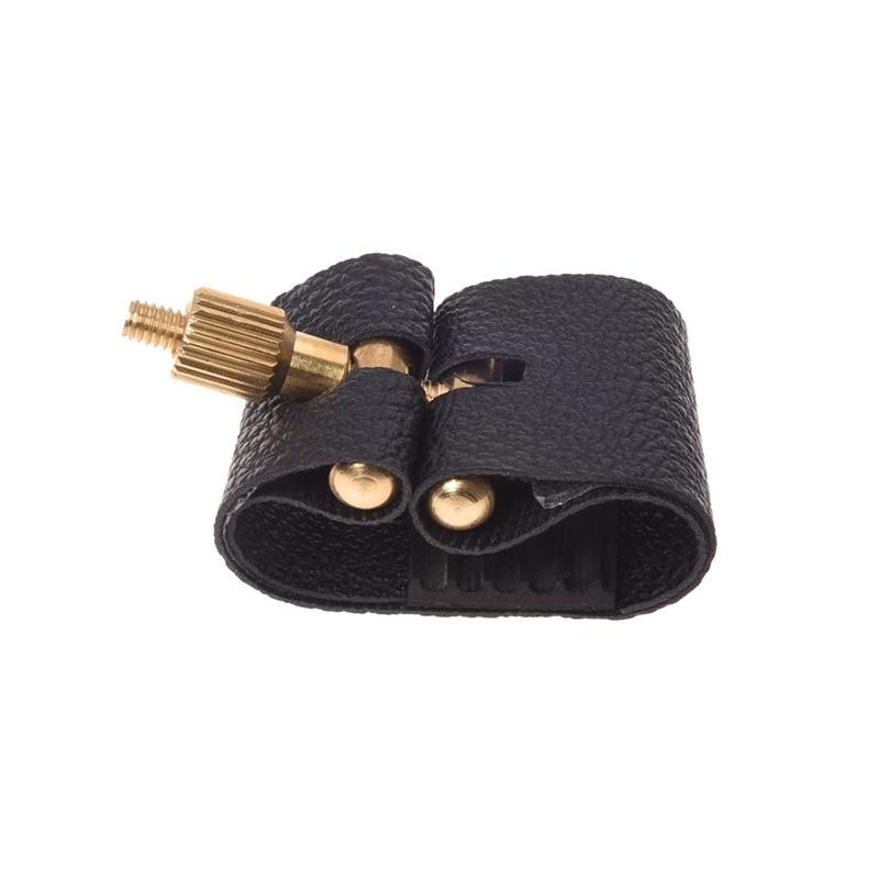 Artificial Leather Compact Durable Ligature Fastener For Alto Sax Saxophone Rubber Mouthpiece
