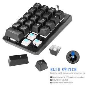 Image 5 - MOTOSPEED K23 Mechanicalตัวเลข21คีย์Mini Numpadแป้นพิมพ์LED Backlightสำหรับแคชเชียร์OSU Gamer Red Switch