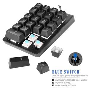 Image 5 - MOTOSPEED K23 Mechanical Numeric Keypad Wired 21 Keys Mini Numpad LED Backlight Keyboard Laptop Numerical for Cashier Red Switch