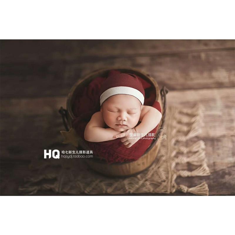 Newborn Photography Props Posing Layer Photo Jute Burlap Layering Blanket Hemp Jute Rug Baby Shower Gift