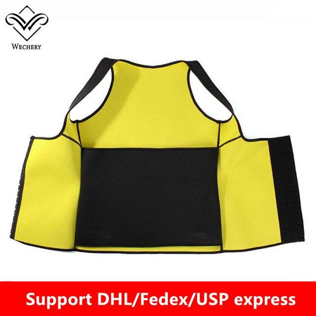 Wechery Slimming Body Shaper Tops Tummy Control Belt Women Modeling Strap Sweat Sport Clothes Neoprene Shapewear Flat Belly 2