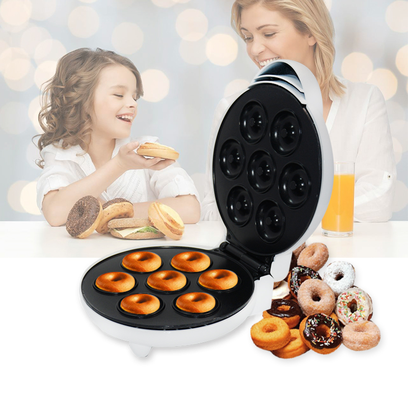 MINI Donut Making Machine Eggs Cake Baking Breakfast Waffle Electric Donut Maker Automatic Pancake Doughnut Makers For Baby