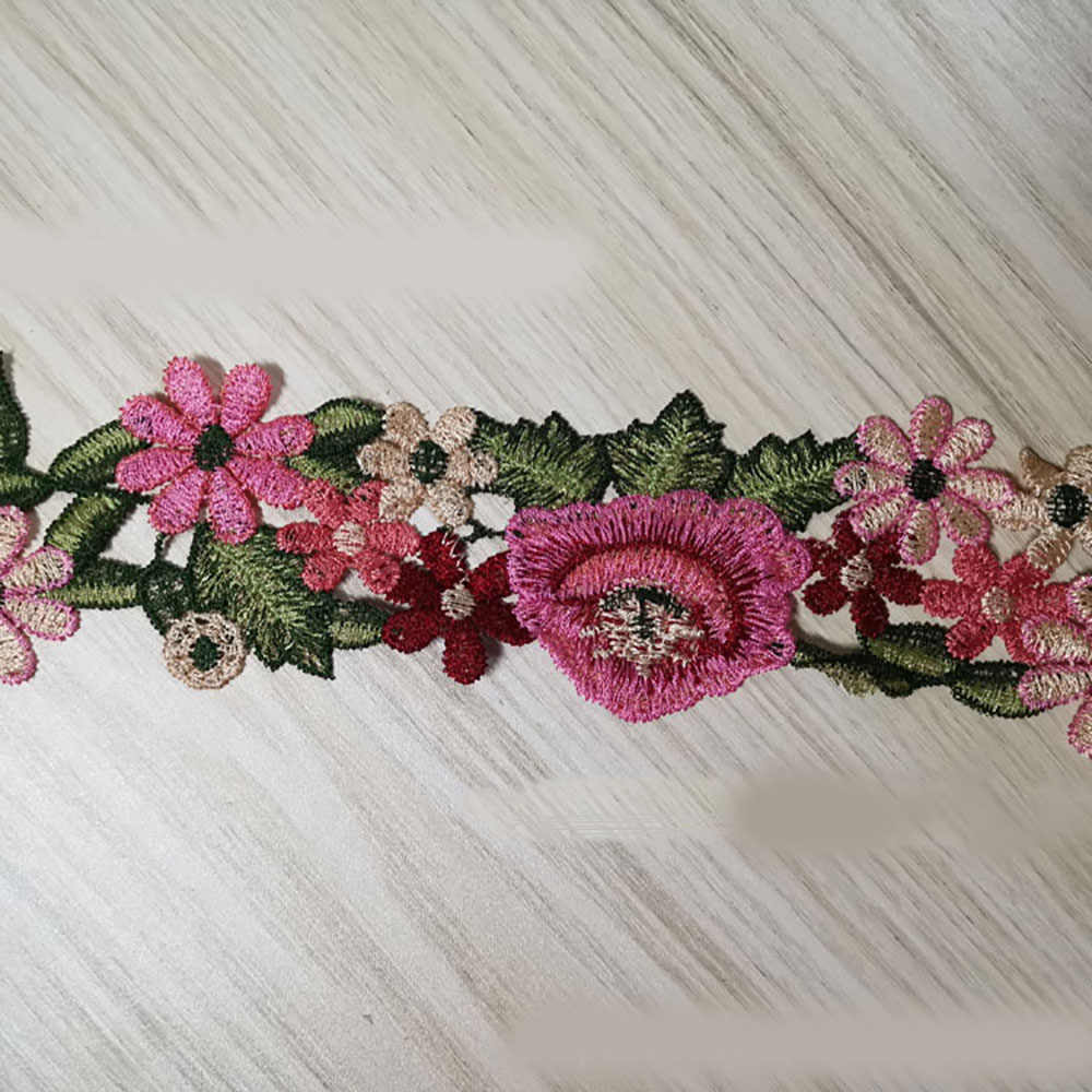 Lychee yaşam çiçek süslemeli dantel nakış dantel şerit suda çözünür dantel DIY dikiş süslemeler aksesuarları iğne