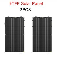 ETFE 200W Flexible Solar Panel Solar Module Car RV Boat 12V Solar Charger,2x100w