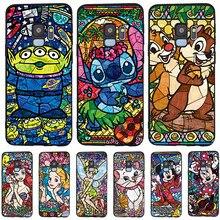 Stitch Mickey For Samsung Galaxy S6 S7 Edge S8 S9 S10 Plus Lite Note 8 9 10 A30 A40 A50 A60 A70 M10 M20 phone Case Cover etui karl lagerfeld for samsung galaxy s6 s7 edge s8 s9 s10 plus lite note 8 9 10 a30 a40 a50 a60 a70 m10 m20 phone case cover etui