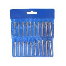 цена на WINOMO 20pcs 3.0mm Diamond Grinding Burr Drill Bits For Rotary Tool Electric Grinder Pneumatic Engraving Pen Machine
