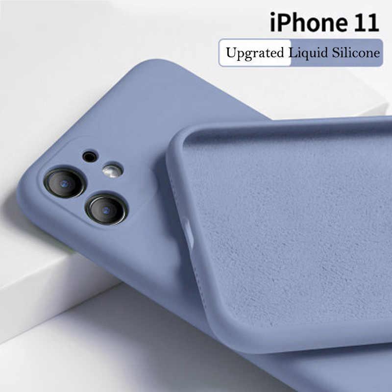 Permen Warna untuk iPhone 11 11 Pro Max Silikon Warna Solid Kembali untuk iPhone 11 Case Lembut TPU Tengah Malam Hijau Kasus