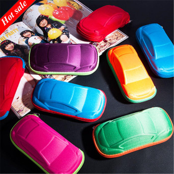 New Children Car Shaped Glasses Case Cute Glasses Strage Bag Box Cases Kids Sunglasses Cases Automobile Styling Box image