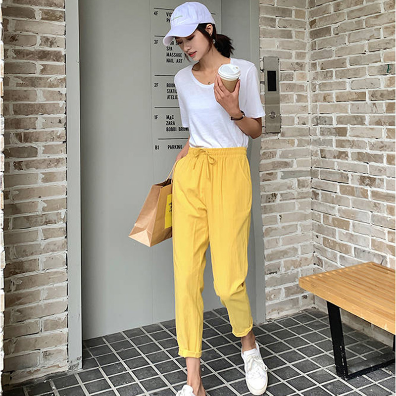 Spring / Summer 2020 Harlan Pants Cotton Linen Pants Soft High Quality Women Ladies