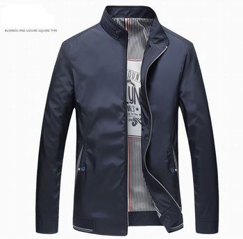 New Stand collar High Quality Jackets Classic style Men Business Autumn Coat Casual Fashion Brank Thin Non-Ironing