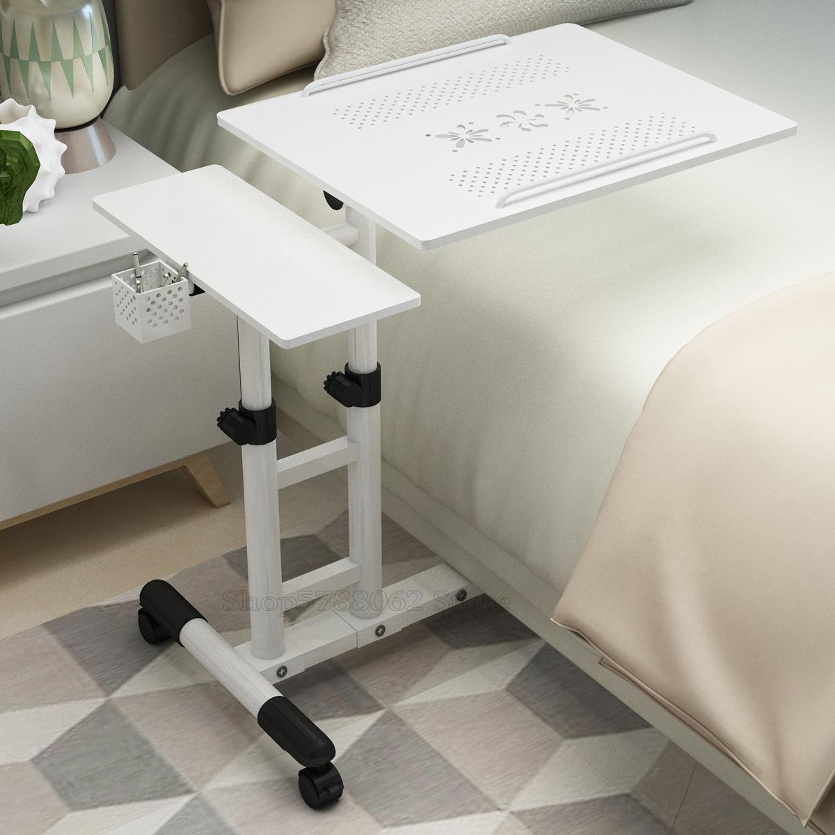 Бытовой ноутбук, кровать с простым ленивым прикроватным столиком, мобильный подъемный стол для офиса, бесплатная доставка