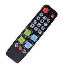 21 Big Buttons Learn Remote Control for TV VCR DVD STB DVB TV-BOX Easy use Controller with Backlit, For Old People.