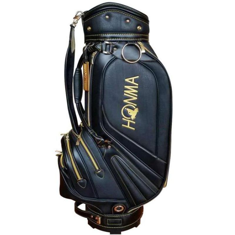 New Men Golf Bag HONMA PU Golf Clubs Bag 9 Inch Golf Standard Bag  In Choice Colour Golf Cart Bag Cooyute Free Shipping