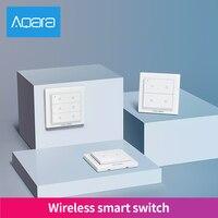 Aqara Opple Schalter Doppel Vier Sechs Tasten ZigBee Schalter Drahtlose Fernbedienung Licht Homekit Schalter
