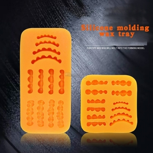 Image 1 - Frete Grátis 1Pcs filme figura de cera base de modelo de laboratório dental laboratório de prótese de cera de borracha dente modelo molde invertido