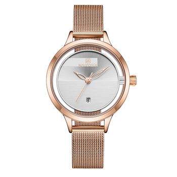 New NAVIFORCE Creative Simple Quartz Watch Women's Steel Mesh Dress Watches Girl Clock Ladies Bracelet Watch Relogios Feminino 7