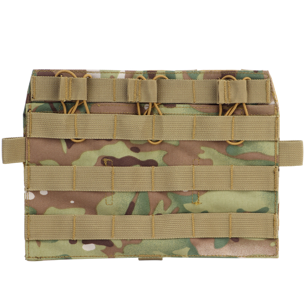Tactical MOLLE Panel Flap Detatchable Front Plate Triple <font><b>Magazine</b></font> Pouch 5.56 <font><b>M4</b></font> AVS JPC Vest Airsoft Hunting Accessories Nylon image